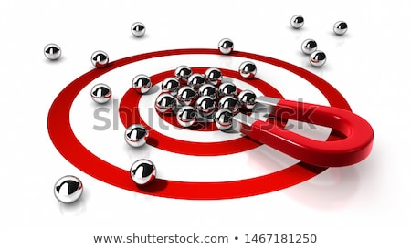 Magnes atrakcja odizolowany biały streszczenie Zdjęcia stock © Wetzkaz