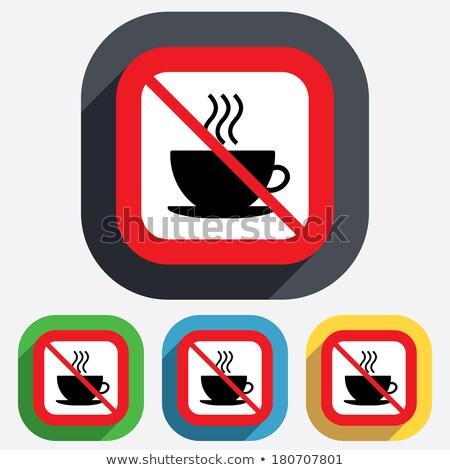 Não bebida quente permitido etiqueta branco transparente Foto stock © romvo