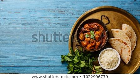 Indiano caril comida caril de frango basmati arroz Foto stock © trexec