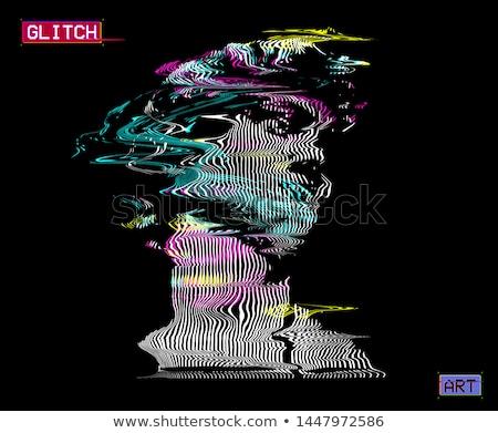 Vervormd abstract iconen ontwerp communie internet Stockfoto © cidepix