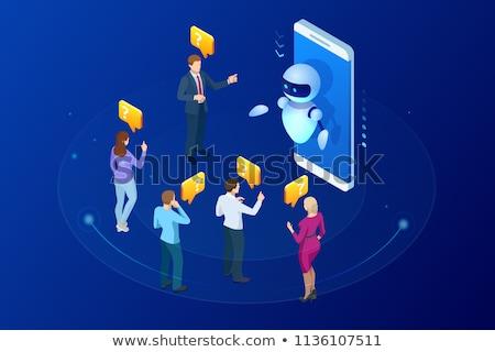 Man and woman developing chat bot Stock photo © jossdiim