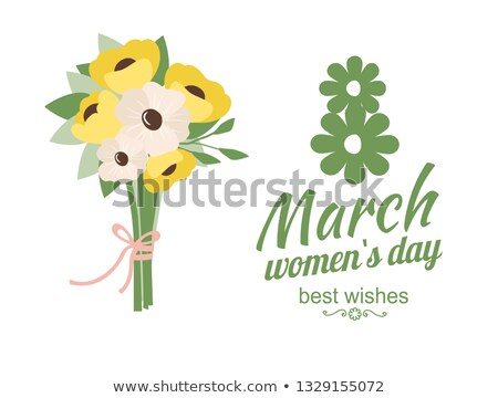 Womens Holiday, Best Wishes with Daisies Vector Stock photo © robuart