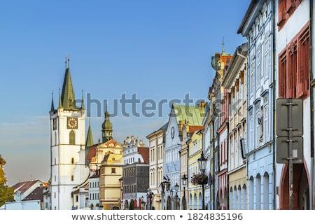 Hoofd- vierkante Tsjechische Republiek historisch huizen hemel Stockfoto © borisb17