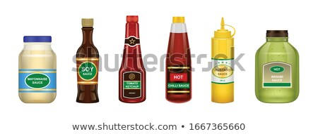 Stock photo: Set of condiments