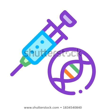 Spuit injectie vaccin vector icon dun Stockfoto © pikepicture