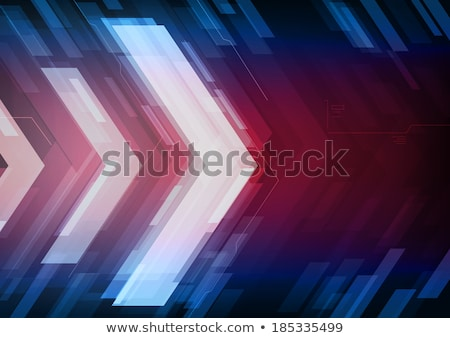 moving forward arrows in glowing red and blue lights Stock photo © SArts