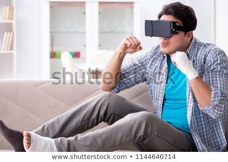 Om mână ranire virtual realitate Imagine de stoc © Elnur