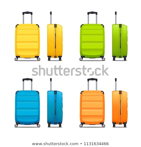 Suitcase On Wheels With Handle Color Vector Stock photo © pikepicture