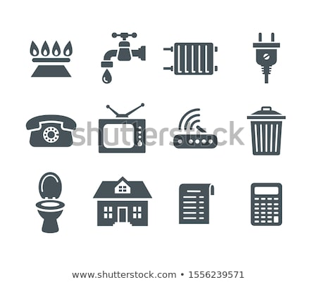 Household services utility payment bill flat icons Stock photo © vectorikart