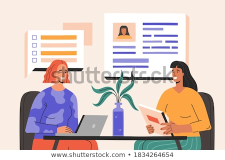 Recruitment agency flat vector illustration Stock photo © RAStudio