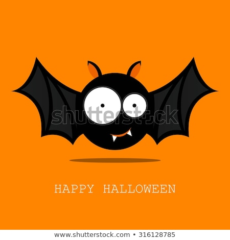 Bat Cute Halloween Vampire Animal Cartoon Stock photo © Krisdog