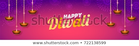 happy diwali realistic diya festival sale banner Stock photo © SArts