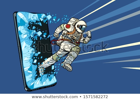 Científico on-line aplicações astronauta internet Foto stock © studiostoks