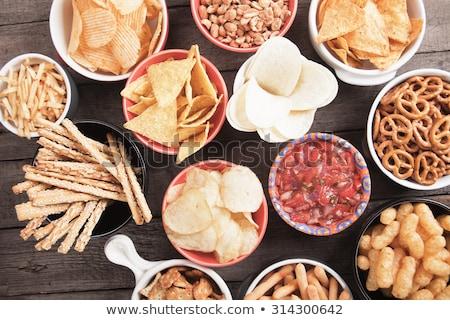 Borsikafű falatozó party étel bisztró asztal étel Stock fotó © grafvision