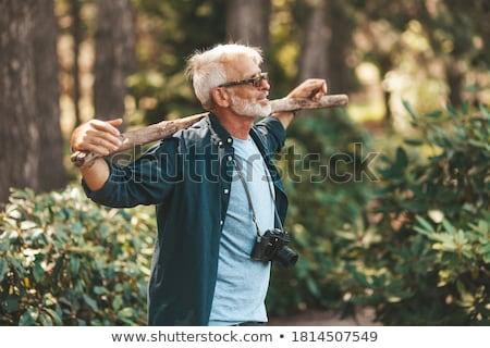 Senior Man Enjoying Outdoor Hike Stock photo © HighwayStarz