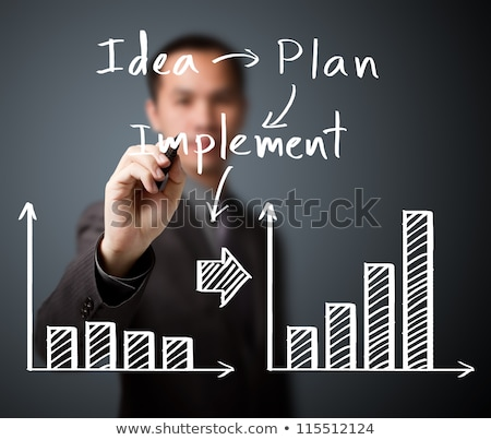 Implementing Business Solution Businessmen Charts Stock photo © robuart