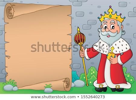 rey · tema · pergamino · papel · edificio · hombre - foto stock © clairev