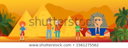 Stock photo: Group of the Egyptian pyramids
