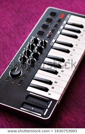 Obraz widok z góry elektronicznej musical klawiatury Zdjęcia stock © amok