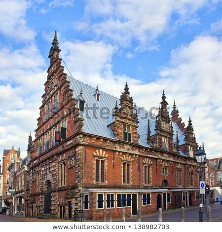 Maisons Pays-Bas historique ciel bâtiment ville Photo stock © borisb17