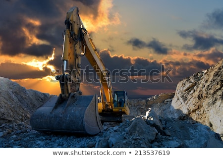 Excavator or Digger Mining Industrial Machinery Stock photo © robuart