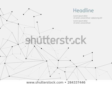 Verde resumen banner triángulo formas diseno Foto stock © SArts