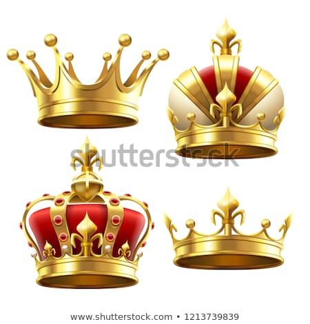 Gold crown on pillow Stock photo © magraphics