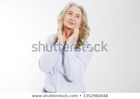 woman is touching her forehead Stock photo © choreograph