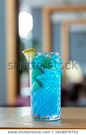 Blauw zomer cocktail martini glas orange slice witte Stockfoto © DenisMArt