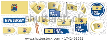 Vector set of flags of the American state of New Jersey in different designs Stock photo © butenkow