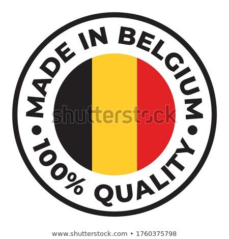 Belgium felirat klasszikus grunge lenyomat zászló Stock fotó © evgeny89