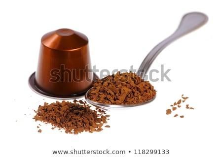 ストックフォト: コーヒー · 茶 · カプセル · 孤立した · 白 · デザイン