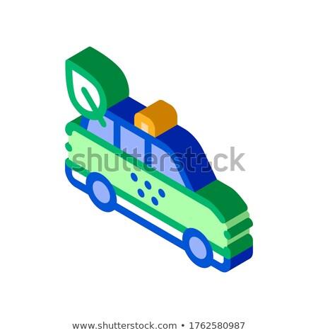 Kierowcy arkusza online taksówką izometryczny ikona Zdjęcia stock © pikepicture