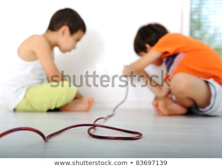 tehlikeli · oyun · çocuklar · elektrik · ev · arka · plan - stok fotoğraf © zurijeta