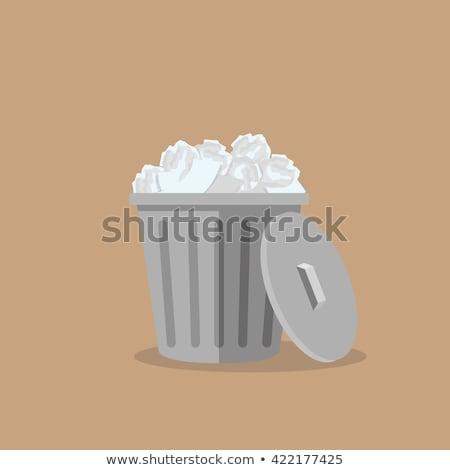 Poussière contenant poubelle texture fond Photo stock © experimental