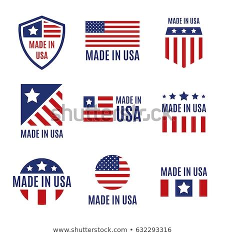 Egyesült · Államok · zászló · szív · fényes · gomb · vektor - stock fotó © losswen