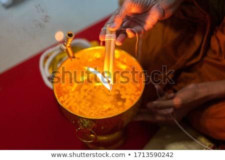 Fényűző buddhista templom épület arany Isten Stock fotó © smithore