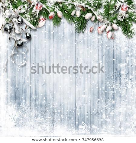 Vintage · ретро · Рождества · европейский · рваной · бумаги · два - Сток-фото © Alkestida