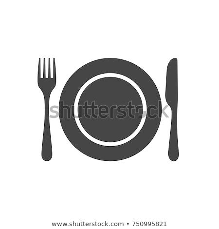 evőeszköz · kör · forma · illusztráció · színes · minta - stock fotó © glorcza