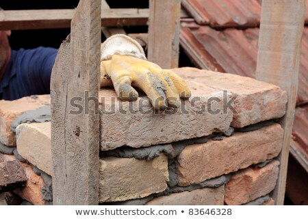 Builder constructing a chimney Stock photo © photography33