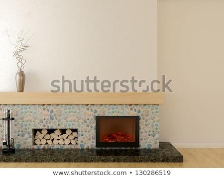 ストックフォト: 木製 · 壁 · 階 · 石 · 行 · 本当の