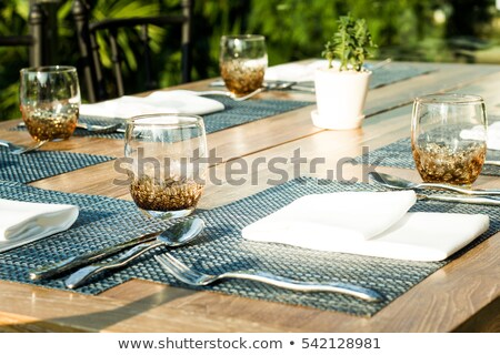 Casual Bistro Table Place Setting Stock photo © klsbear