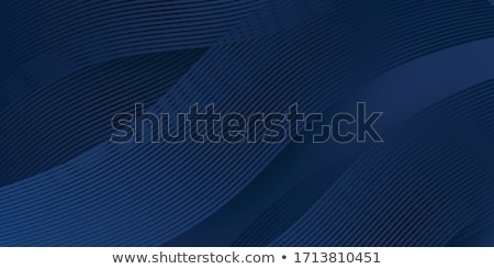 青 波状の 抽象的な 行 白 光 ストックフォト © Artida