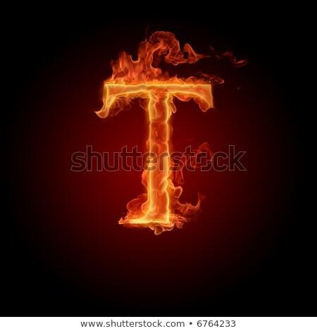 0dae45f3c5361 Fiery font. Letter T Stock photo © dvarg