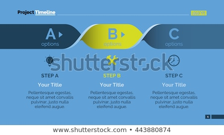 Vector progress background with three steps (letters) Stock photo © orson