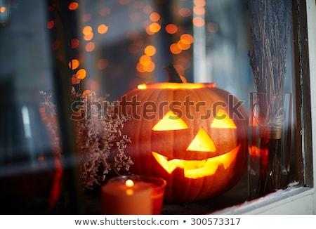 Diavolo zucca di halloween creativo design arte Foto d'archivio © indiwarm