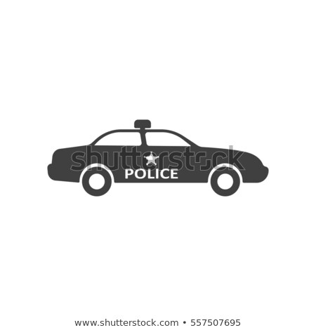 Black and White Police Squad Car Stock photo © bobbigmac