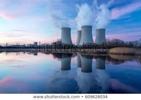 Nukleáris elektromos erőmű Franciaország füst gyár ipari Stock fotó © chrisroll