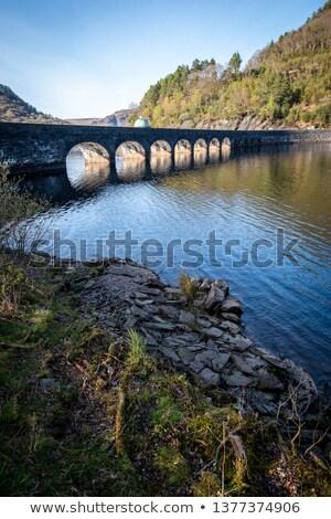 Zbiornik dolinie walia niebo drogowego drzew Zdjęcia stock © latent