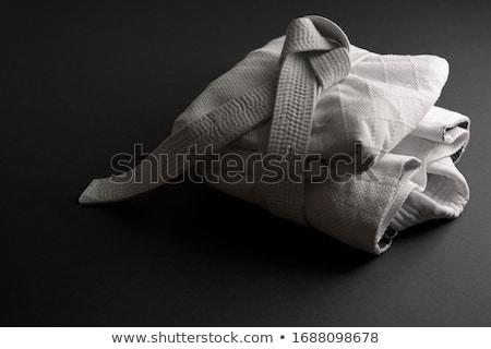 Judogi with white belt Stock photo © ozaiachin